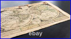 1749 Globus Terrestris Carte ancienne / Mappemonde. Par Schreiber