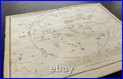 1776 Carte céleste planisphère pour les alignements des principales étoiles
