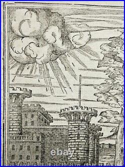 2 Gravures sur bois. Philibert de lOrme. Architecture Renaissance