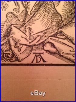 ALBRECHT DURER 1471-1528 Gravure Mise au Tombeau Epreuve XIXe