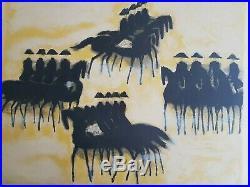 ANDRÉ BRASILIER Le Cadre Noir de Saumur lithographie originale Signée