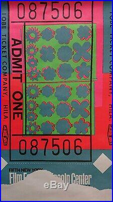 ANDY WARHOL Affiche lithographie Affiches Américaines LINCOLN CENTER TICKET