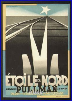 A. M. Cassandre. Horaires pour l'Etoile du Nord. Pullman. 1927