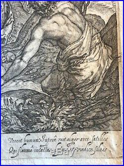 Abraham Bloemaert after 1564 1651 Adam et Eve chassés du Paradis graveur MIL