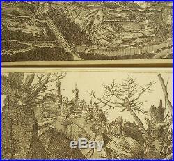Albrecht DURER (après) Le cavalier et la mort Gravure