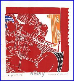 Alekos FASSIANOS Couple Lithographie originale signée au crayon 31x28 cm