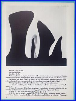 Alexander CALDER Lithographie Originale 1971 + Cadre garantie 48ans Mobile