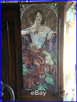 Alphons Mucha Tapisserie des Flandres authentique jacquard tissé Art Nouveau
