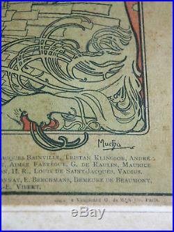 Alphonse MUCHA Affiche Originale La Plume 15 Août 1898 N°224 19X26 cm