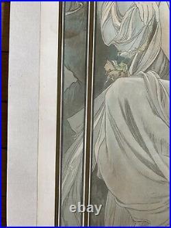 Alphonse MUCHA Repos de la nuit, 1899 Original stone lithography full margin