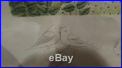 Ancienne lithographie cadre raymond peynet numerotée signée dedicace originale 2