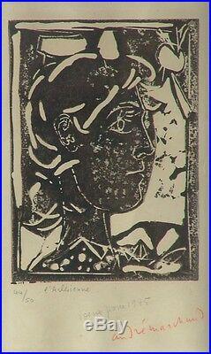 André MARCHAND (1907-1997) Lithographie 1945 Signée & Justifiée L'Arlésienne