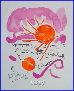 André MARCHAND (1907-97) Lithographie 1959 Hommage à Raoul Dufy Ecole de Paris