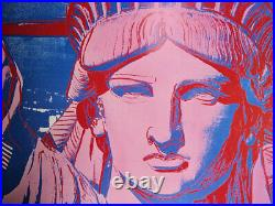 Andy WARHOL 10 Statues of Liberty AFFICHE ORIGINALE D'EPOQUE # NYC