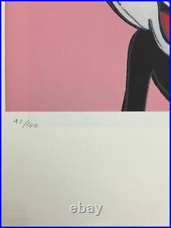 Andy Warhol Lithographie 57 x 38 Arches Timbre Sec Israel Châteaux AN600