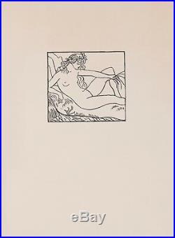 Aristide MAILLOL DEUX BOIS GRAVES ORIGINAUX 1926 NUS SUPERBE QUALITE