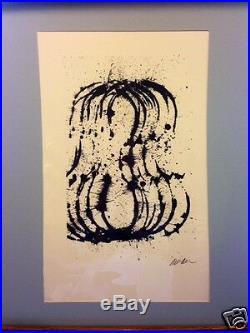 Arman Fernandez. Lithographie originale signée. Le traité du violon