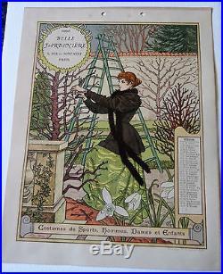Art Nouveau-eugene Grasset Calendrier De La Belle Jardiniere 1896