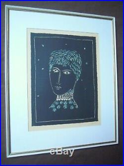 Art Slovenia Zoran Music 1950 Lithographie Ida Ltd 1/200 Signed By Artist Rare