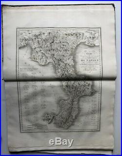 Atlas Voyages à Naples et en Sicile Rare Ouvrage 273 gravures, cartes Italie