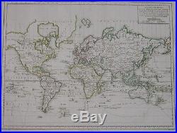 Atlas universel Mentelle Chanlaire 177 cartes couleurs In-folio oblong 1798