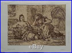 Autographie de Eugène Delacroix Femmes d'Alger