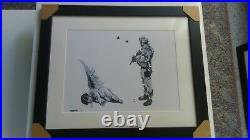 BANKSY Gravure/Lithographie Fallen Angel Tirage 300 Exemplaires numérotés