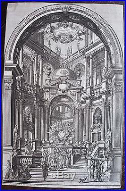 BIBIENA, Giuseppe Galli da (1696-1757). Gravure originale tirée de Architecture