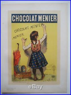 BOUISSET Firmin Les Maîtres de l'Affiche Lithographie Chocolat Menier Rare
