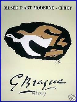 BRAQUE Georges Affiche Lithographie Mourlot art abstrait abstraction Musée Ceret