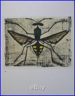 BUFFET Bernard 10 LITHOGRAPHIES Les Insectes 1967 #MOURLOT