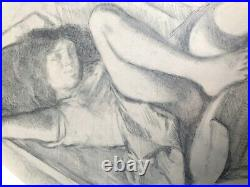 Balthus Pierre Klossowski 1971 rare Large Original Vintage Offset Lithograph