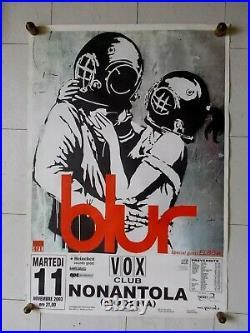 Banksy / Blur, Rare Affiche Originale de Concert de 2003 (Think Tank Design)