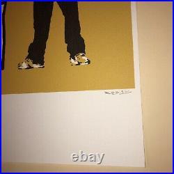 Banksy Lithographie 50x35 Signature au Crayon Timbre Artistique