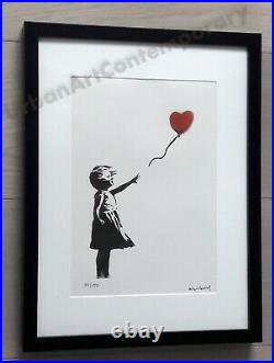 Banksy Lithographie Signed Numbered on 150, Certificat Edition CADRE INCLUS