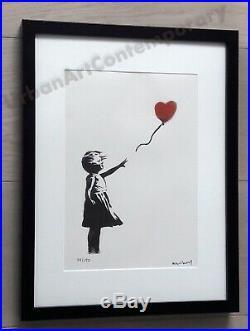 Banksy Lithographie Signée Numérotée sur 150, Certificat Edition CADRE INCLUS