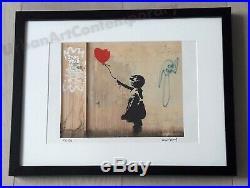 Banksy Lithographie Signée Numérotée sur 150, Certificat Edition Fille Ballon
