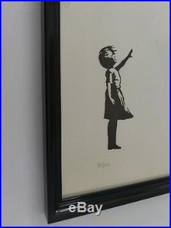 Banksy Lithographie la Fille au ballon, Certificat Edition et CADRE INCLUS