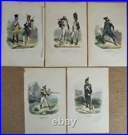 Bellange H. 25 Gravures Couleurs 1844 Uniformes Militaires Empire Napoleon Armee