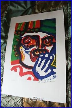 Bengt LINDSTROM Lithographie Originale Signée Numérotée 37/60 COBRA 72x51 cm