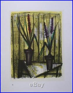 Bernard BUFFET Lot de 10 lithographies couleurs Les Fleurs 1967 #MOURLOT