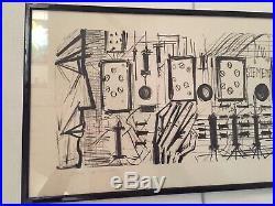 Bernard Buffet 1968 Lithographie Epreuve Originale Hors Commerce Siemens