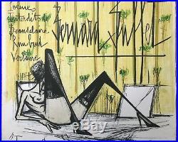 Bernard Buffet Lithographie Originale Jeux De Dames Mourlot Original Lithograph