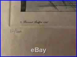 Bernard Buffet Lithographie signée et numerotée notre Dame lÎle de la cité