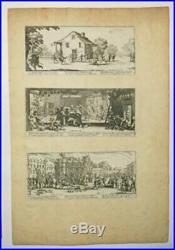 CALLOT JACQUES Les Misères et les Malheurs de la Guerre. 1633. SUITE COMPLETE