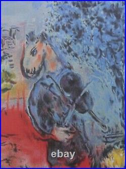 CHAGALL Marc (d'après) Amoureux de la Tour Eiffel LITHOGRAPHIE signée, 500ex