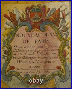 CHEREAU (François) / COQUART & DELAHAYE Nouveau plan de Paris. 1754