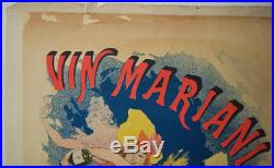CHERET Jules AFFICHE VIN MARIANI French Tonic wine GRANDE LITHOGRAPHIE POSTER