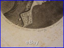 CHRETIEN Gravure PHYSIONOTRACE PORTRAIT HOMME GENERAL REVOLUTION PRE PHOTO 1795
