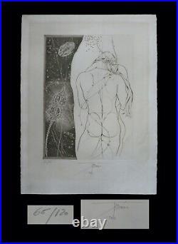 CURIOSA EROTISME TREMOIS (Pierre-Yves) Lithographie signée et numérotée